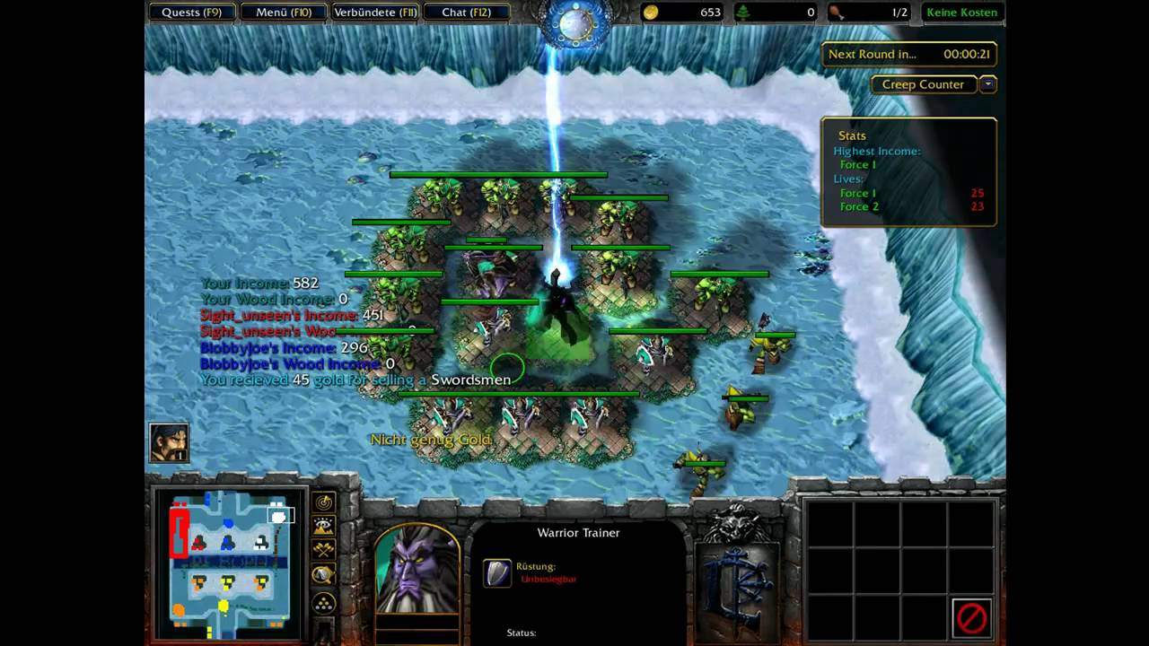 Warcraft 3 - Wintermaul Wars Reborn Part 1 [HD]