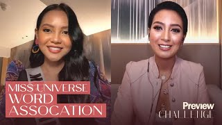 Miss Universe Philippines 2020 Candidates Play the Word Association Game   PREVIEW