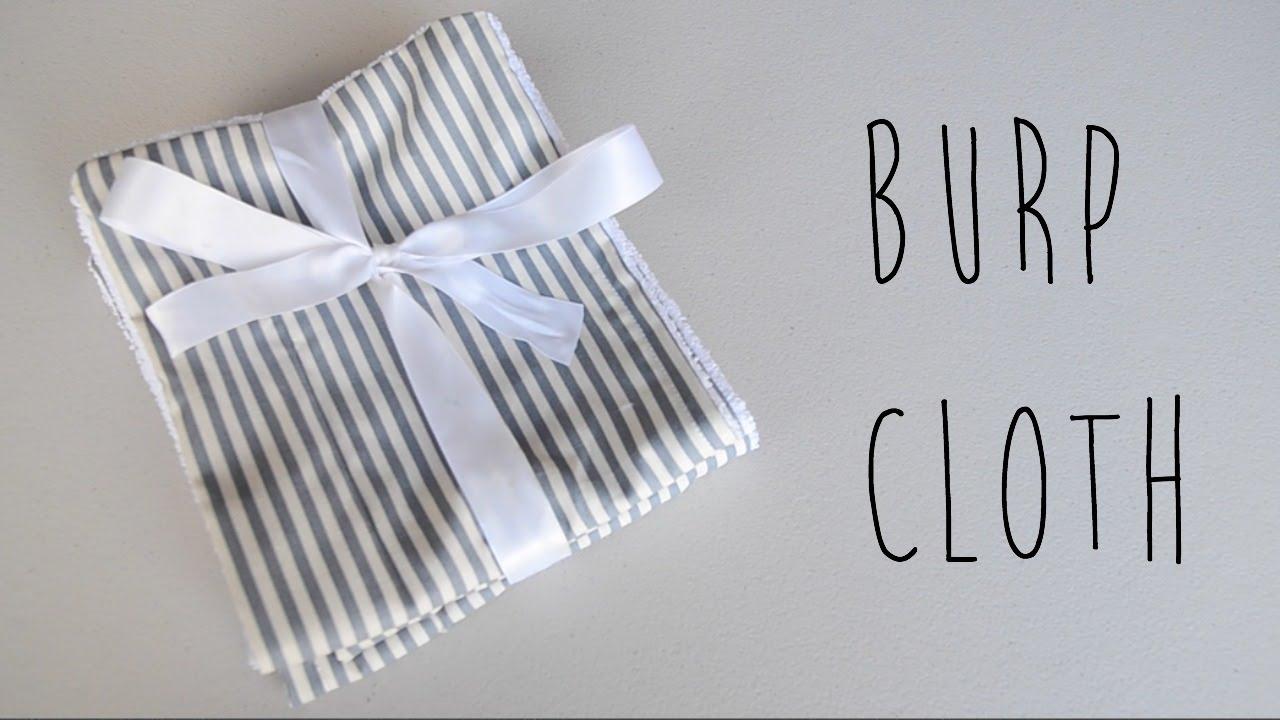how to make baby burp cloths  diy easy burp cloth easy baby, Baby shower