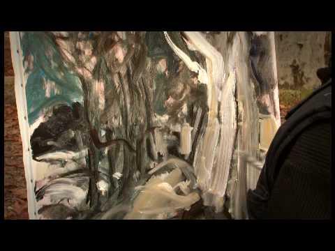 artiste peintre peint un tableau une toile en direct lecon de peinture cours d art youtube. Black Bedroom Furniture Sets. Home Design Ideas
