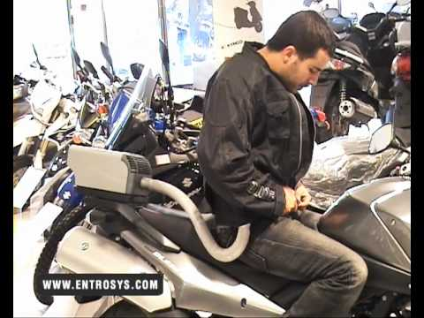 Honda Riding Gear >> Motorcycle Air Conditioning by EntroSys - YouTube