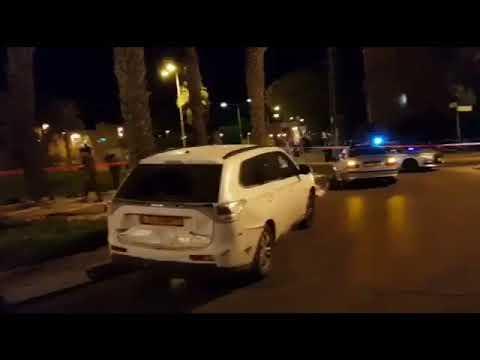 זירת התקיפה החבלנית (צילום: דוברות משטרת ישראל)