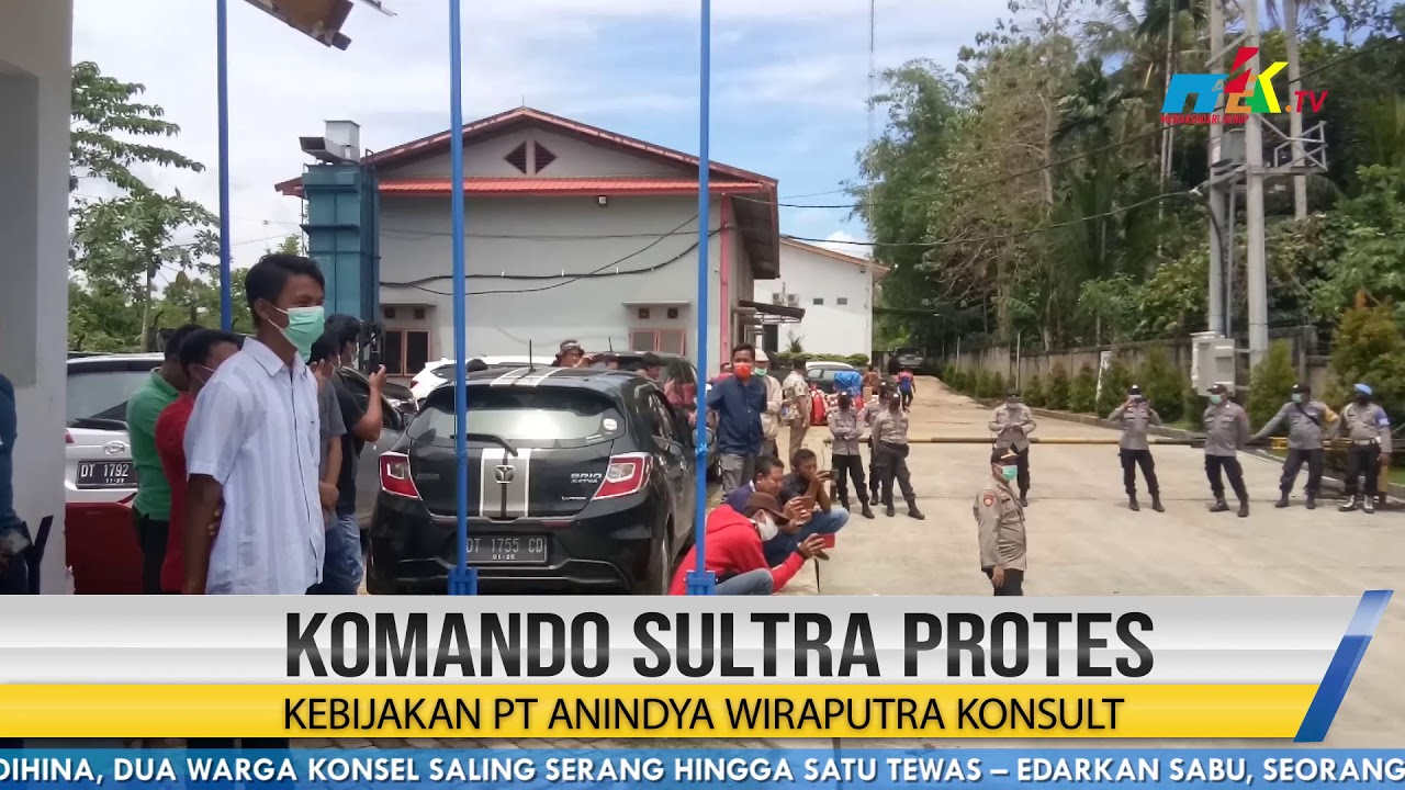 Komando Sultra Protes Kebijakan PT Anindya Wiraputra Konsult