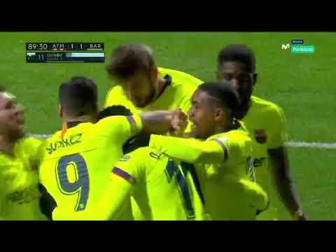 Atl C3 A9tico Madrid vs Barcelona 1 1 Goal DEMBELE