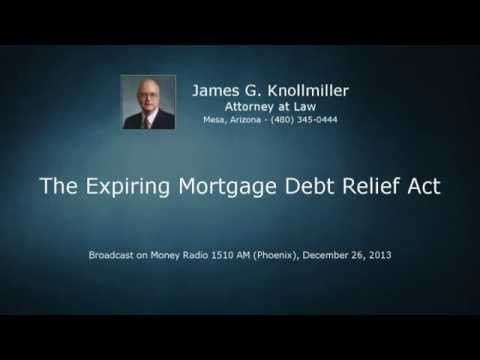 The Expiring Mortgage Debt Relief Act