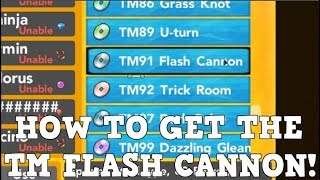 HOW TO GET THE NEW FLASH CANNON TM! | Roblox Pokemon Brick Bronze