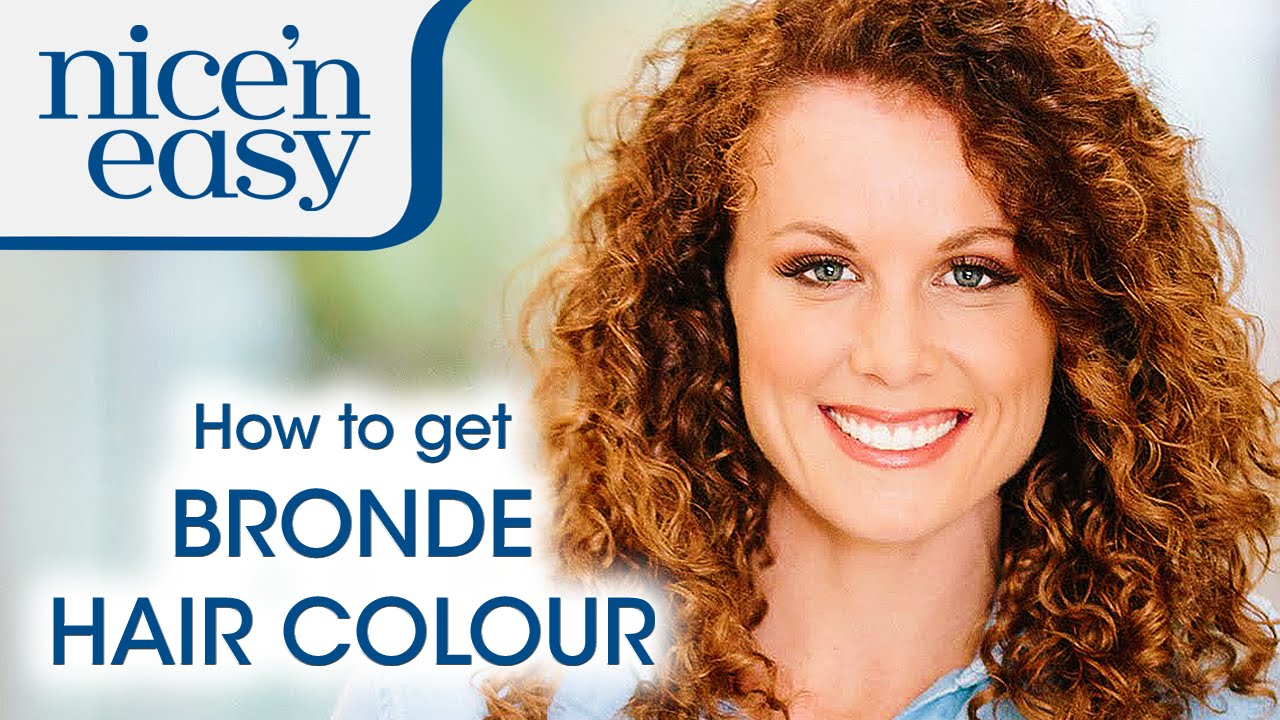 How To Get Bronde Hair Colour At Home Nice N Easy Youtube