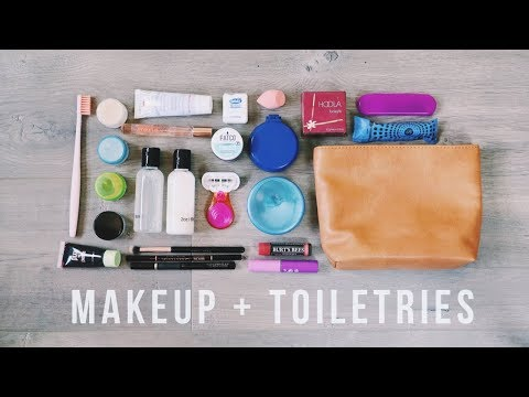 How to Pack Makeup + Toiletries in ONE BAG | Travel Hacks
