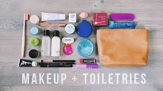 How to Pack Maĸeup + Toiletries in ONE BAG | Travel Hacks