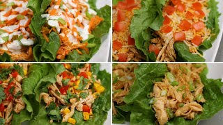 Chicken Lettuce Cups 4 Ways