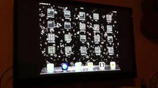 En iPad & en TV