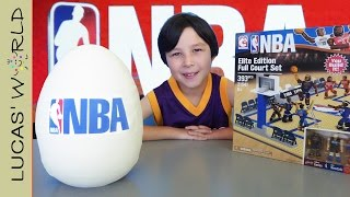 BIG NBA PLAY DOH Surprise Egg & C3 Toys Full Court Play Set with rare LeBron Kobe & Durant figures!