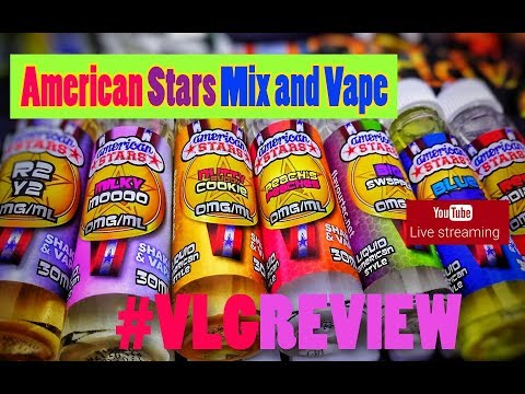 American Stars Mix and Vape LIVE Greek Review