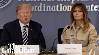 melania trump appears in front of the cameras for the first time in weeks