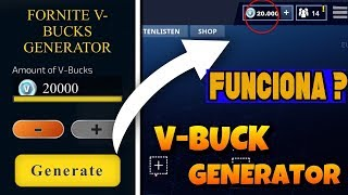 FORTNITE V-BUCKS FREE WITH GENERATOR WORKS?