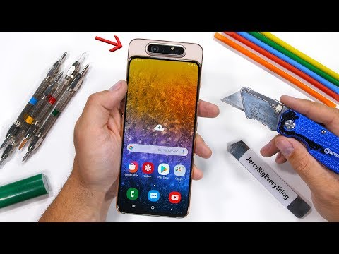 Samsung Makes A Flippy Camera? - A80 Durability Test!