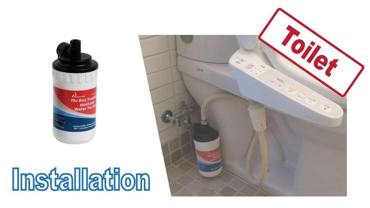 Installing Cf 12ch In Washlet Washing Toilet Seat