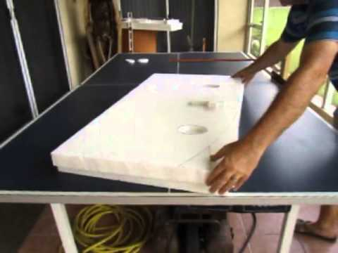 Making Tombstones On A Ping Pong Table Size Hot Wire Foam Cutter