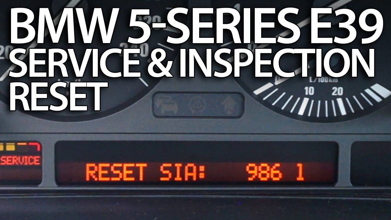 hight resolution of how to reset service reminder in bmw e39 5 series oil inspection youtube