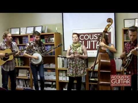 """Joy Kills Sorrow perform """"Such Sweet Alarms"""" at the Acoustic Guitar Office"""