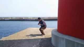 エアギターin大畑漁港