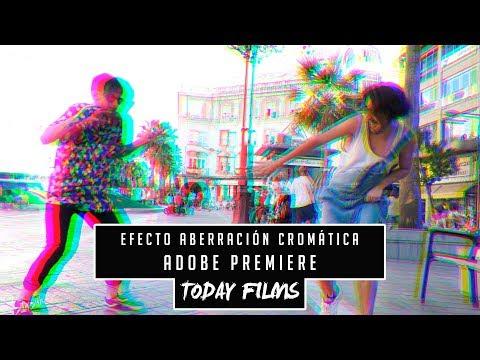 Como hacer efecto aberración cromática en Adobe Premiere CC