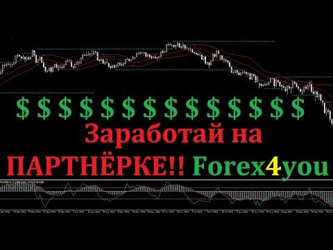 Зарабатывайте деньги на партнёрской программе Forex4you!