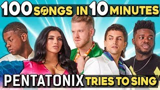 Pentatonix Tries To Sing 100 Pop Songs In 10 Minutes Challenge MP3