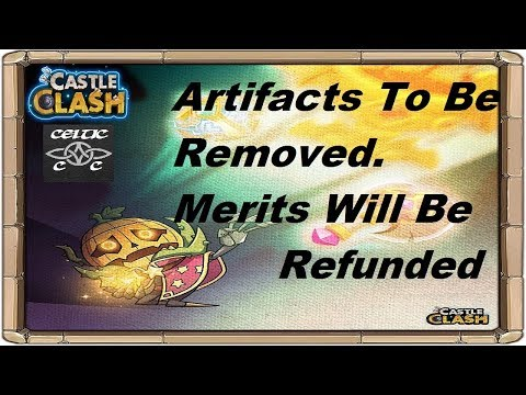 Artifacts Are Being Removed. Confirmed Our Merits Will Be Refunded  Castle Clash