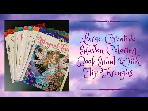 large-creative-haven-coloring-book-haul-with-complete-flip-throughs