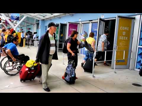 Port Everglades Arrival & Boarding Cruise Ship Allure of the