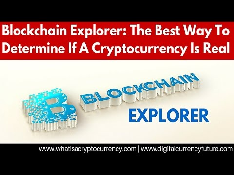 Blockchain Explorer | How To Determine If A Cryptocurrency Is Real