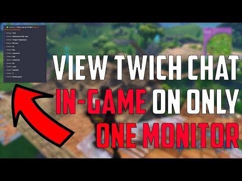 How To View Your Twitch Chat In-game (Single Monitor)