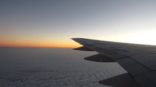 Azerbaijan Airlines evening flight from Baku (GYD) to Moscow (DME) on Boeing 757-200
