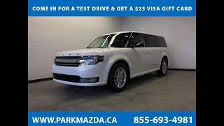 WHITE 2014 Ford Flex  Review Sherwood Park Alberta - Park Mazda