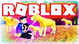 ROBLOX TASMANIAN TIGER - CENOZOIC SURVIVAL (Feat Game Maker DinoGojira)(Lets Play Wild Animals)