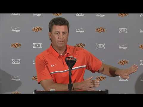 Mike Gundy News Conference and Media Day Live