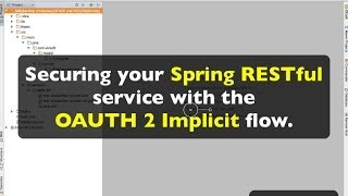 Securing your Spring REST service with OAUTH 2 Implicit (password)