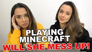 Lets Hope She Will Not Mess Things Up - Minecraft - Merrell Twins Live
