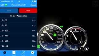 Jaguar XJ L (V6 3.0 Turbodiesel 275 HP) Acceleration 0-100 km/h (Measured by Racelogic)