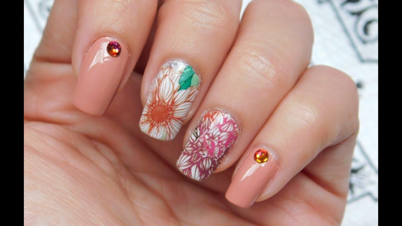 Fall inspired nail art 2017 ♥ (Nail art for natural nails) - YouTube