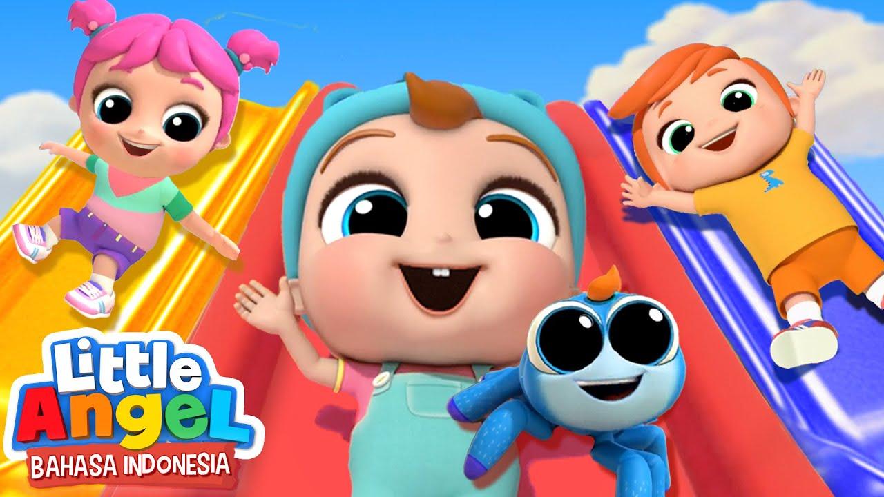Download Serunya Main Seluncuran!   Lagu Anak - Laba Laba Kecil l Little Angel Bahasa Indonesia