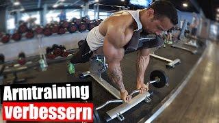 Bizeps und Trizeps Training mit deutschen Meister Mens Physique