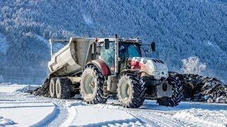 Lohnunternehmen Berger/Steyr/CVT/Fliegl/Stone Master/Kärnten/Gailtal/Transport/ Überflutung