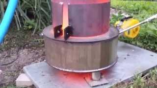 Poolheizung für richtige Männer ! Universal/ (Alt)Ölbrenner Rauchfrei (waste oil burner) no smoke