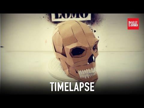 Timelapse - Cardboard Skull DIY Prop