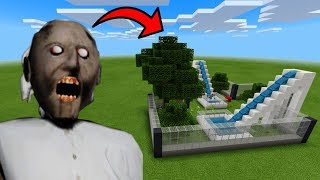 How To Make a GRANNY HORROR Water Slide in Minecraft PE | MCPE Journalist