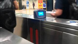CityRail New Ticket Barrier Indicators in preparation for OPAL Smart-Card Ticketing System.