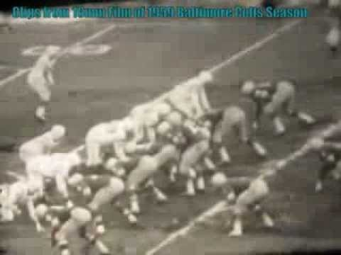 Clips from 45 minute 1959 16mm Baltimore Colts Champion Season