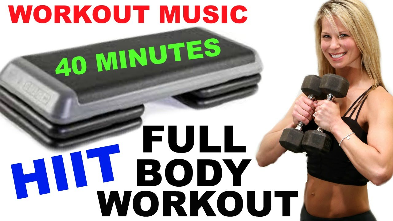 Full Body Hiit Step With Weights Workout Hiit Workout Bench